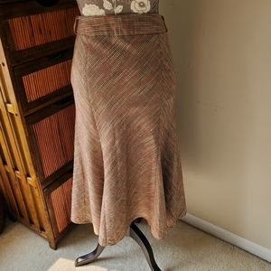 Christopher & Banks Skirts - Colors of fall long faux wrap tweed godet skirt 4